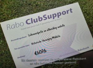 RABO CLUB SUPPORT: OPBRENGST FANTASTISCH!